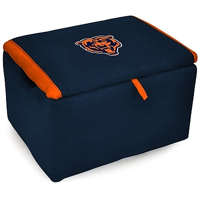 Imperial International NFL Upholstered Storage Ottoman; Chicago Bears