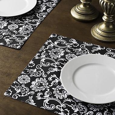Linen Tablecloth Floral Damask Placemat (Set of 4)