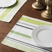 Linen Tablecloth Barcode-Striped Placemat (Set of 4)