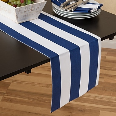 Linen Tablecloth Stripes Table Runner