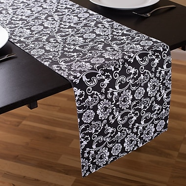 Linen Tablecloth Floral Damask Table Runner