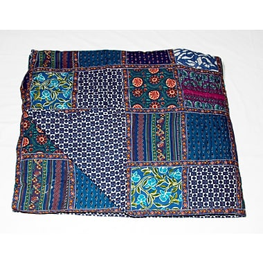 Timbergirl Cotton Block Print Patchwork Quilt
