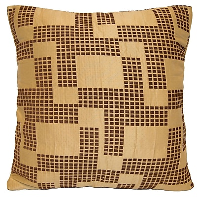 Universal Home Fashions Holland Chenille Throw Pillow; Brown