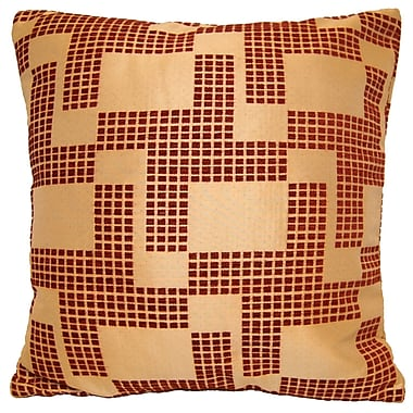 Universal Home Fashions Holland Chenille Throw Pillow; Red