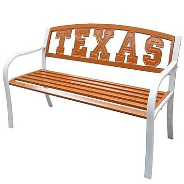 LeighCountry NCAA Collegiate Metal Garden Bench; University of Texas