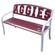 LeighCountry NCAA Collegiate Metal Garden Bench; Texas A & M University