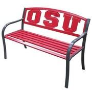 LeighCountry NCAA Collegiate Metal Garden Bench; Ohio State University
