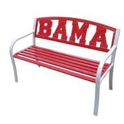 LeighCountry NCAA Collegiate Metal Garden Bench; University of Alabama