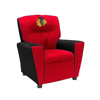 Imperial NHL Kids Recliner w/ Cup Holder; Chicago Blackhawks