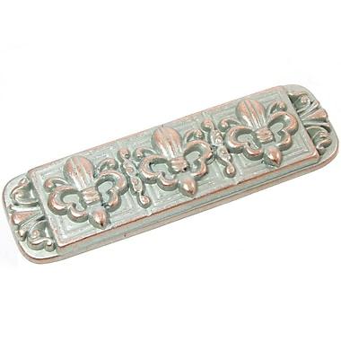 Laurey Fleur de Lis Bar Pull; Weathered Nickel Copper