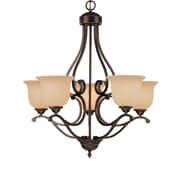 Millennium Lighting Courtney Lakes 5-Light Shaded Chandelier