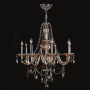 Worldwide Lighting Provence 8-Light Crystal Chandelier; Amber