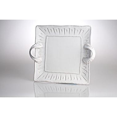 Abigails Charlot French Square Platter w/ Handles