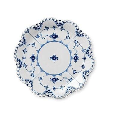 Royal Copenhagen Blue Fluted Full Lace Round Dish