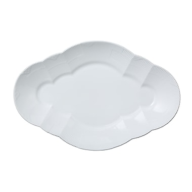 Royal Copenhagen White elements Oval Platter