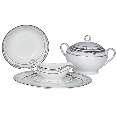 Shinepukur Ceramics USA, Inc. Pearl Harbor Fine China Special Serving 5 Piece Dinnerware Set