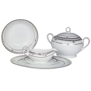Shinepukur Ceramics USA, Inc. Pearl Harbor Fine China Special Serving 5 Piece Dinnerware Set