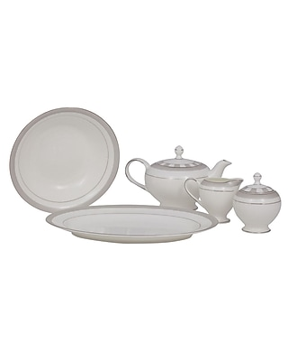 Shinepukur Ceramics USA, Inc. Spectrum Bone China Traditional Serving 5 Piece Dinnerware Set