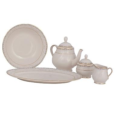 Shinepukur Ceramics USA, Inc. Spring Valley Ivory China Traditional Serving 5 Piece Dinnerware Set