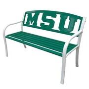 LeighCountry NCAA Collegiate Metal Garden Bench; Michigan State University