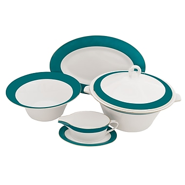 Shinepukur Ceramics USA, Inc. Valley Fine China Special Serving 5 Piece Dinnerware Set