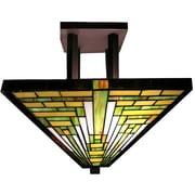 Warehouse of Tiffany Frank Lloyd Wright 2-Light Semi Flush Mount