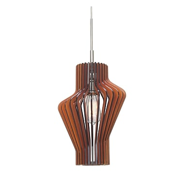 Woodbridge Canopy 1-Light Mini Pendant; Cherry