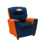 Imperial NFL Kids Recliner w/ Cup Holder; Denver Broncos
