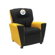Imperial NFL Kids Recliner w/ Cup Holder; Pittsburgh Steelers