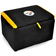 Imperial NFL Upholstered Storage Ottoman; Pittsburgh Steelers
