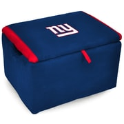 Imperial NFL Upholstered Storage Ottoman; New York Giants