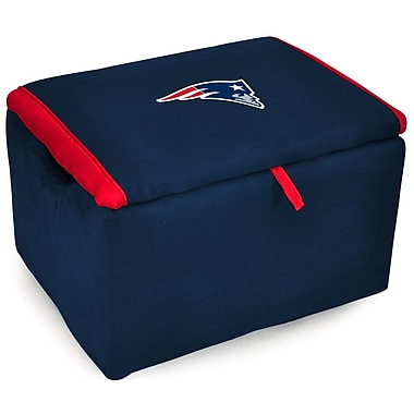 Imperial NFL Upholstered Storage Ottoman; New England Patriots