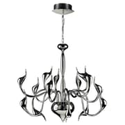 PLC Lighting Swan 15-Light Candle-Style Chandelier