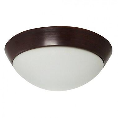 EfficientLighting 1-Light Flush Mount; White