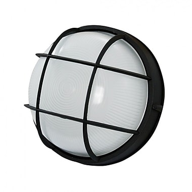 EfficientLighting 1-Light Outdoor Bulkhead Light; Black