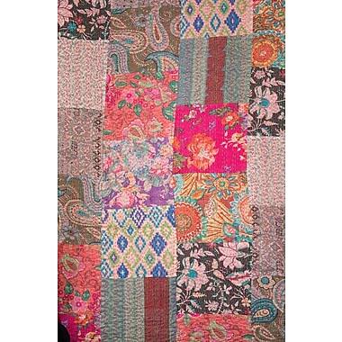 Abigails Kantha Patchwork Quilt; 60'' H x 60'' W