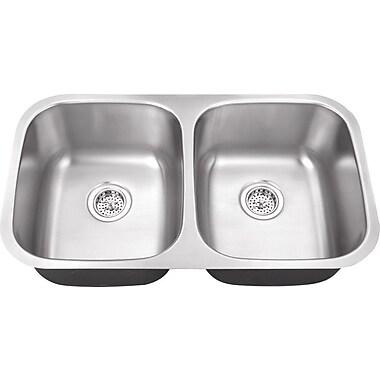 Soleil 32.25'' x 18.5'' Double Bowl Kitchen Sink