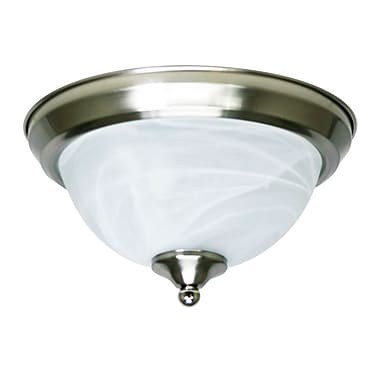 EfficientLighting 1-Light Flush Mount; Brushed Nickel