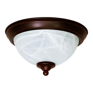 EfficientLighting 1-Light Flush Mount; Bronze