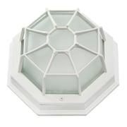 EfficientLighting 1-Light Outdoor Bulkhead Light; White
