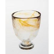 Abigails Stonege Iced Beverage Glass; Tangerine
