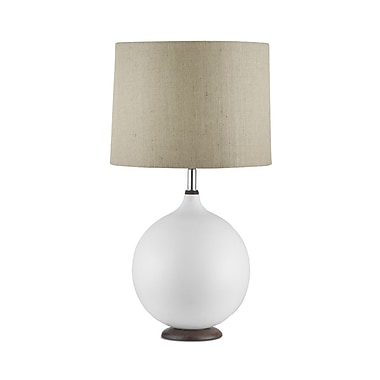 Nova of California Puffin 27'' Table Lamp; Bone White