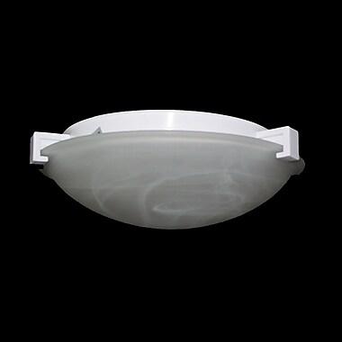 PLC Lighting Nuova Flush Mount; Rust / Marbleized / 3'' H x 8'' W / J118mm