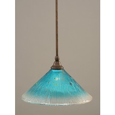 Toltec Lighting Stem Mini Pendant w/ Hang Straight Swivel; Bronze