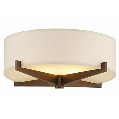 Philips Organic Modern Fisher Island Flush Mount Shade; Ivory Fabric