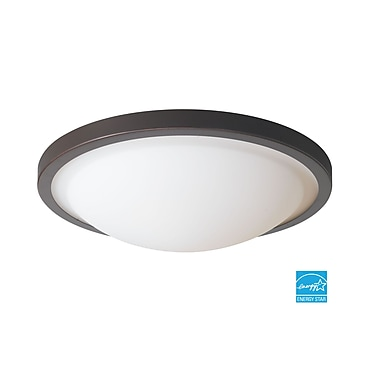 Woodbridge Energy Saving 2-Light Flush Mount; Mahogany Bronze