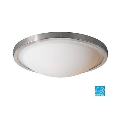Woodbridge Energy Saving 2-Light Flush Mount; Satin Nickel