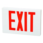 Morris Products LED Exit Sign in Red LED and White Housing w/ Battery Backup
