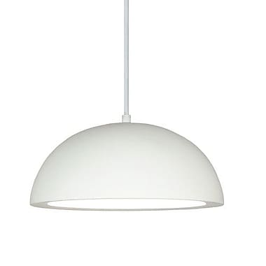 A19 Gran 1-Light Inverted Pendant; Faux Sherwood Forest Leather