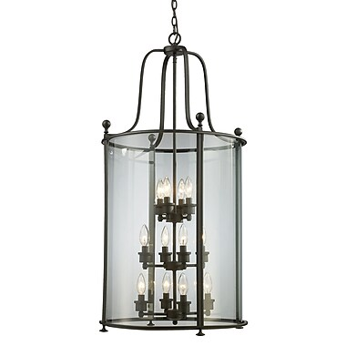 Z-Lite Wyndham 12-Light Foyer Pendant; Bronze